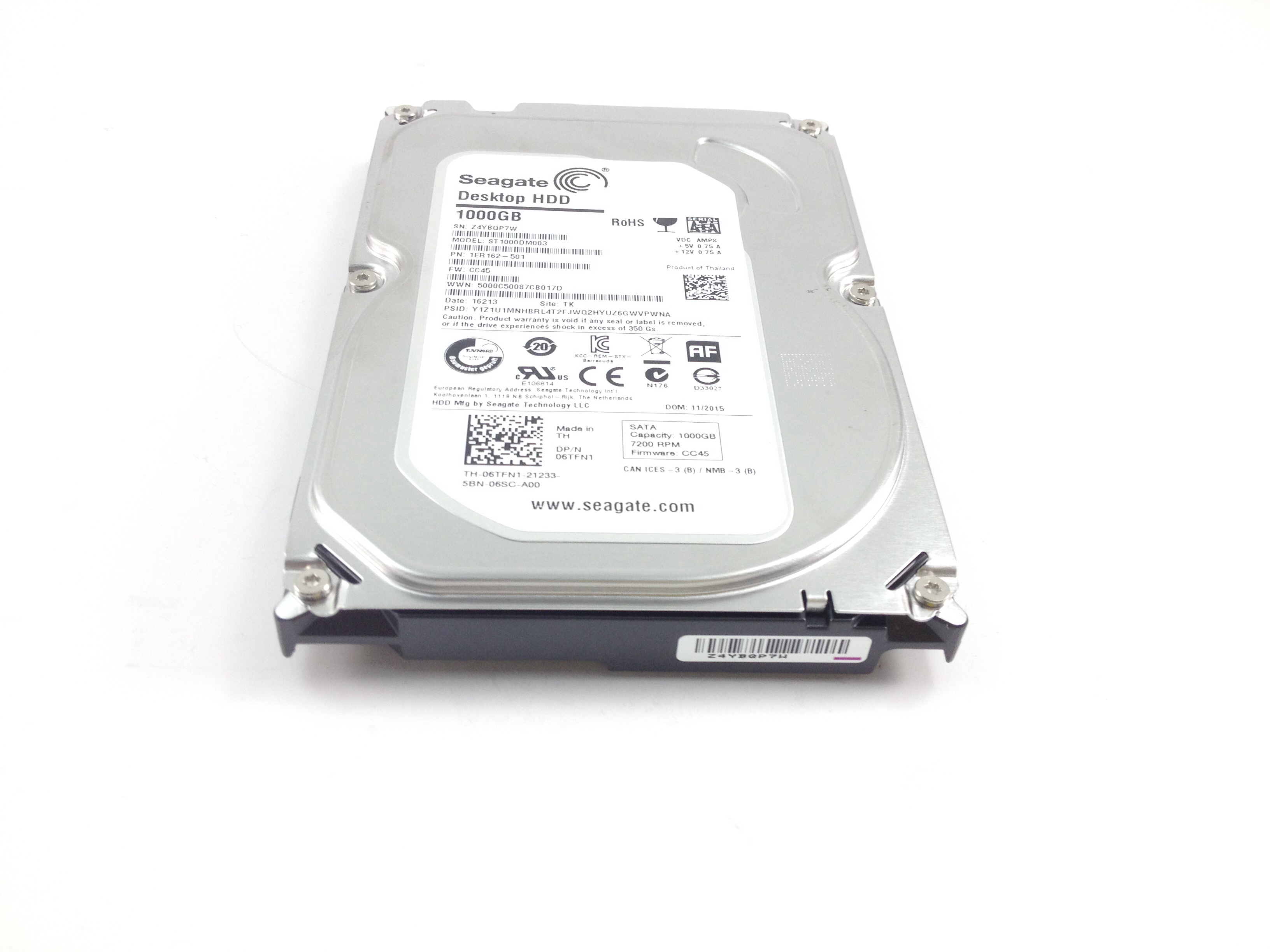 Details about 06TFN1 Dell Seagate 1TB 7 2K SATA 3 5'' Hard Drive
