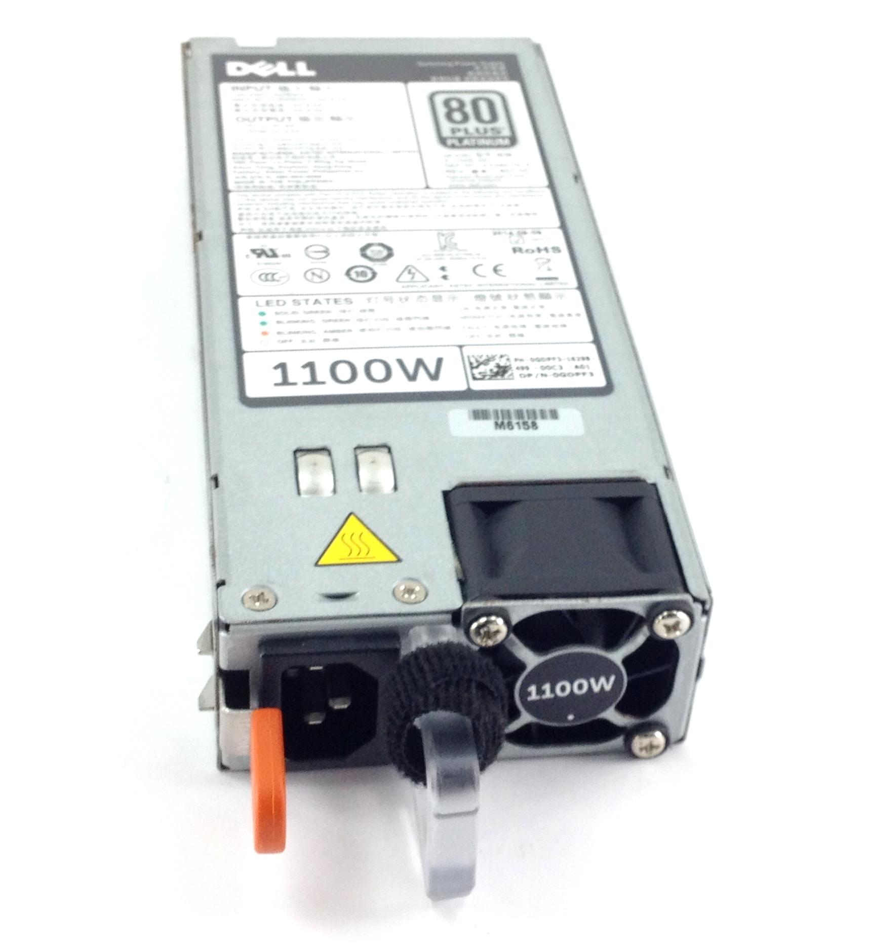 FOR DELL POWEREDGE R520//R620//R720//R720XD GDPF3 1100W REDUNDANT POWER SUPPLY