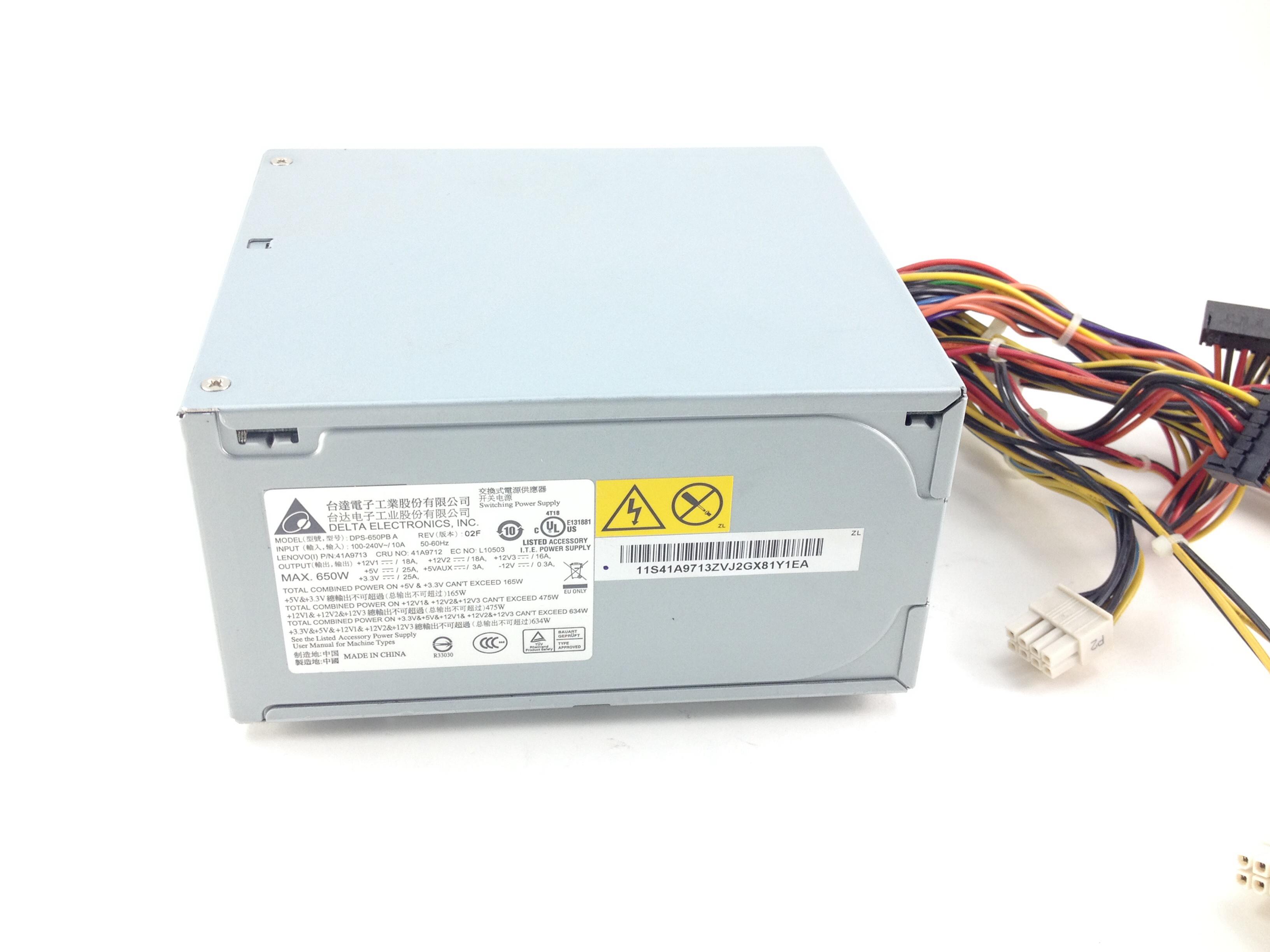 Lenovo ThinkStation S10 650W Power Supply PN 41A9746 41A9745 41A9712 DPS-650PB