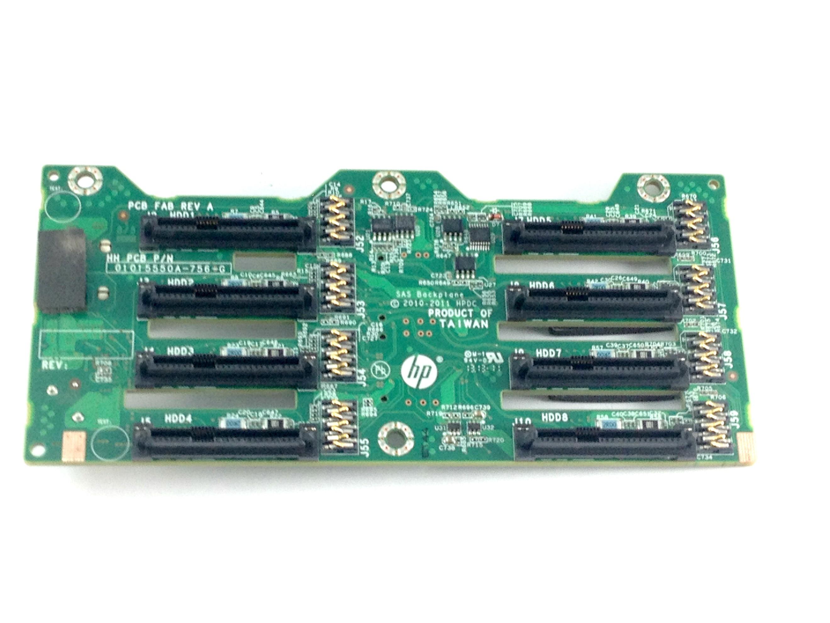 """643705-001 HP Proliant DL380p Gen8 8 Bay 2.5/"""" SAS H D Backplane Board Pulled *"""