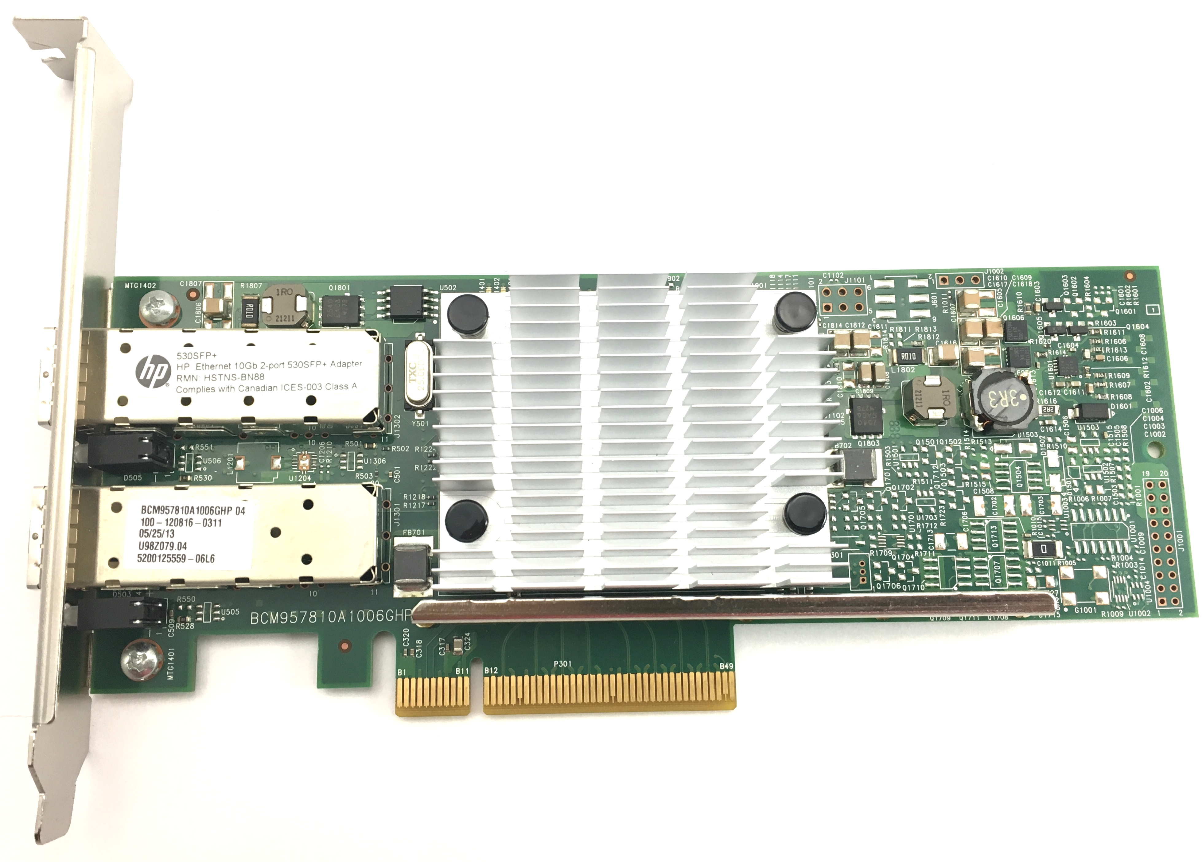 PCIe 2-Port NIC 656244-001 HP 530SFP 10Gb Ethernet 10GbE SFP