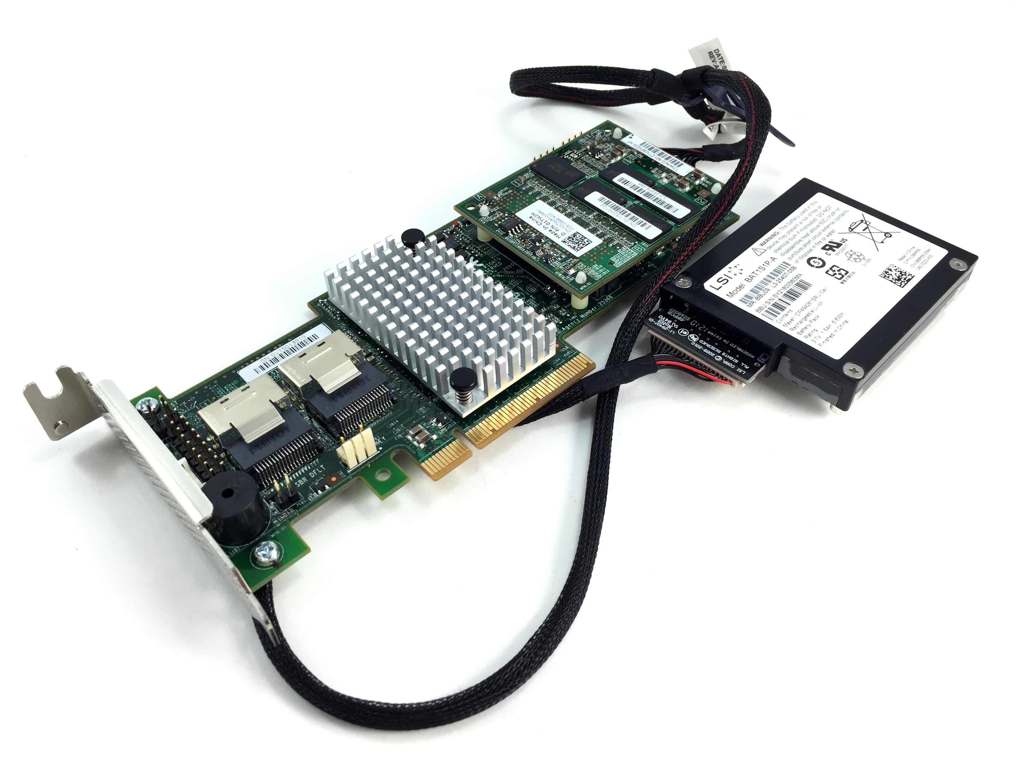 Details about 9265-8I LSI MegaRaid 6Gbps SAS/SATA 1GB Raid Controller w/  Battery Low Profile