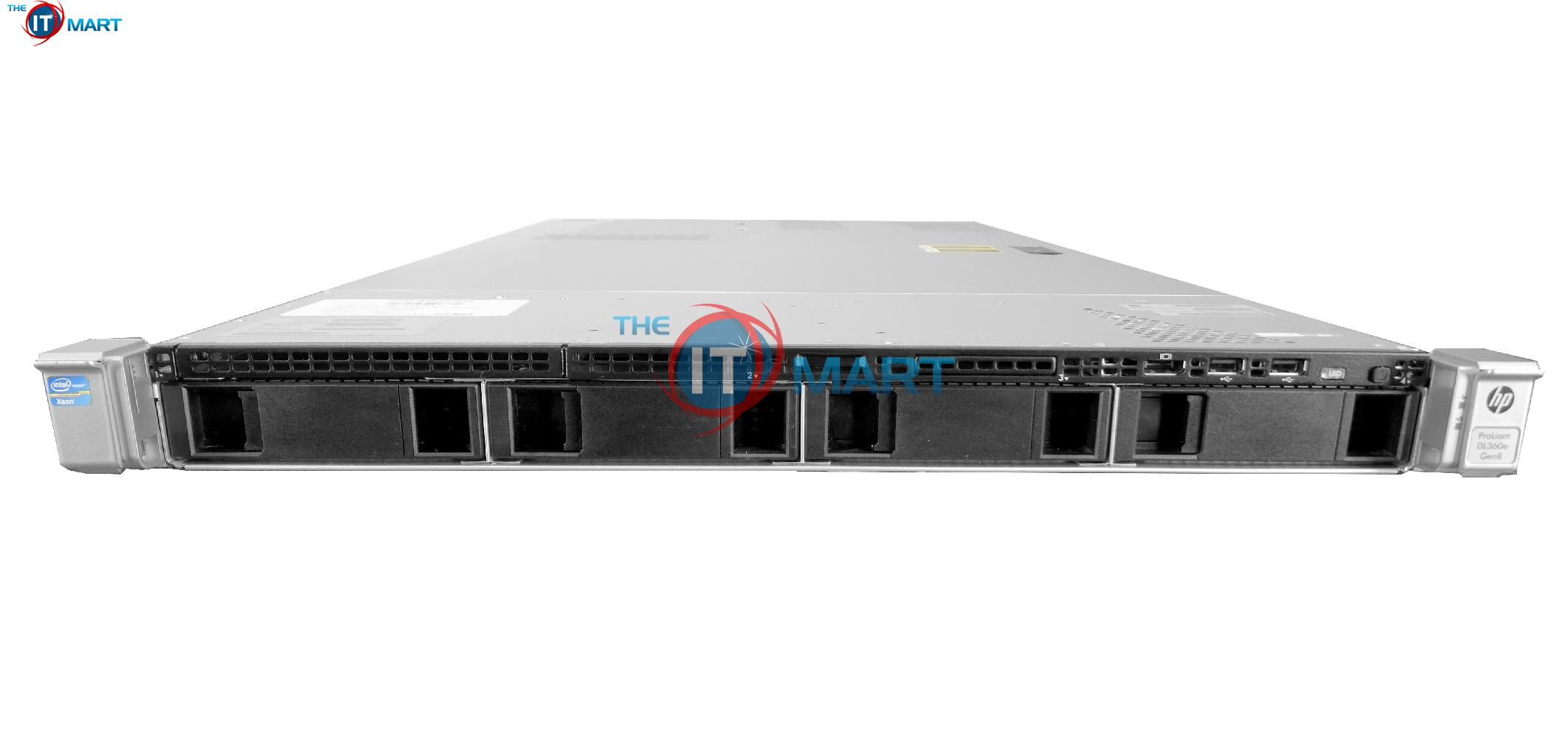 2X Intel Xeon E5-2630L 2.0GHz 6C No Rails HP ProLiant DL360p G8 8-Bay SFF 1U Server Certified Refurbished 2X Trays Included P420i RAID 2X 460W PSUs 16GB DDR3