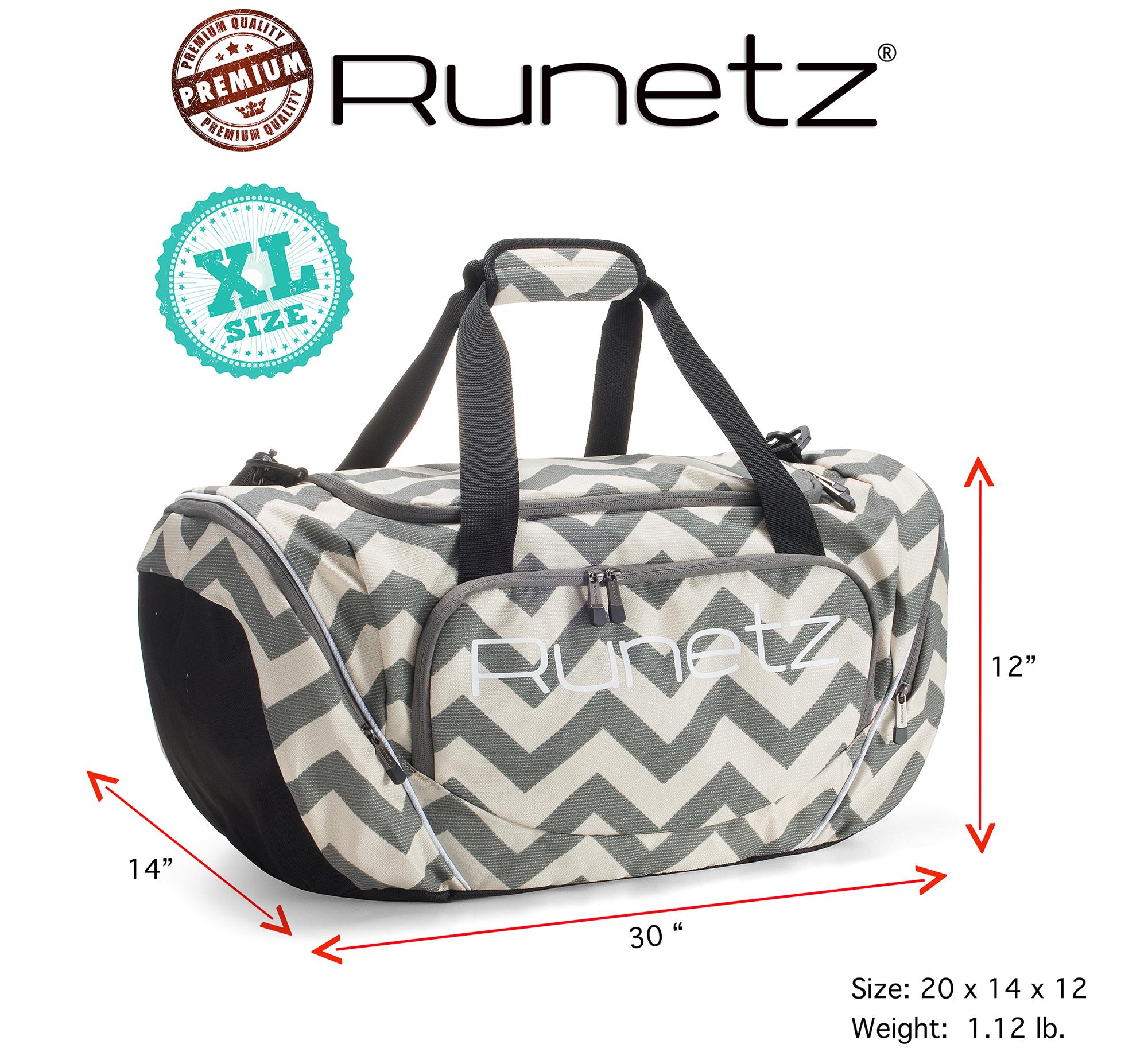 7aa374a7bc Runetz Chevron Gray Gym Bag Sport Shoulder for Men Women Duffel 20 ...