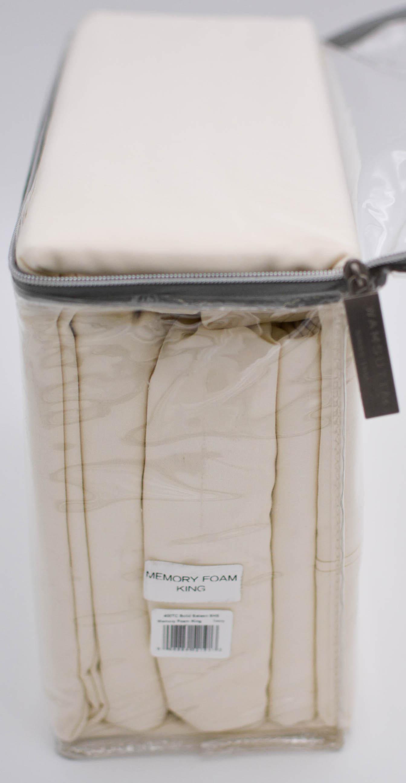Wamsutta-Memory-Foam-400-Thread-Count-Sheet-Set-Size-King-White-Ivory thumbnail 10