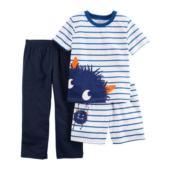 56e8ffbb6420 Carter s Baby Boys 3 Pc Pajama Set New 190796678092