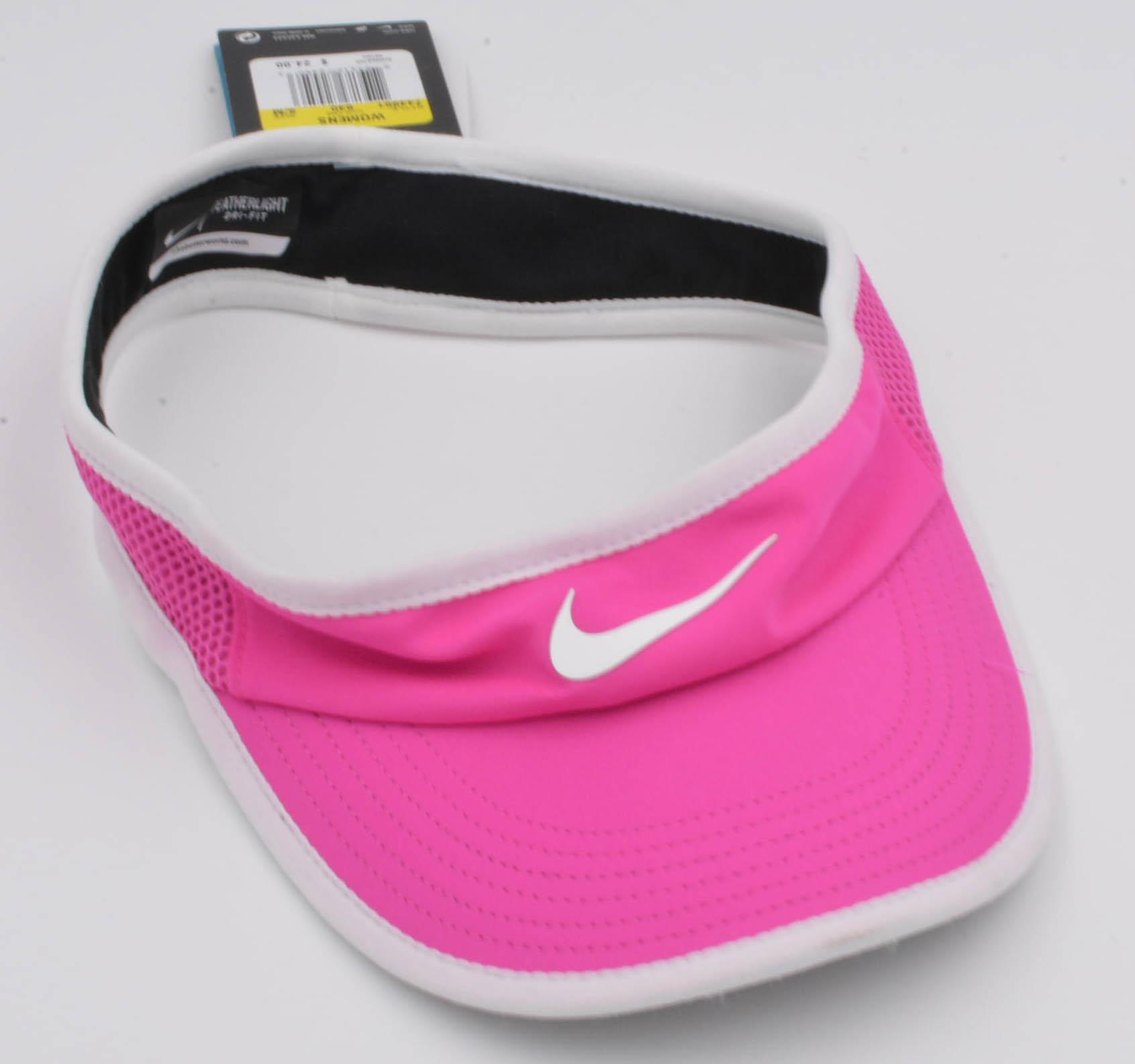 Nike-FEATHERLITE-DRI-FIT-TENNIS-VISOR-HAT-WOMENS-Size-S-M thumbnail 9