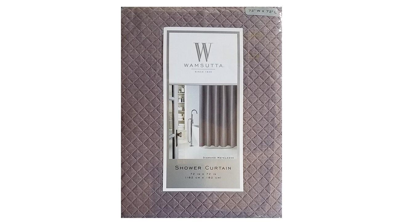Wamsutta Diamond Matelasse 100 Cotton Fabric Shower Curtain Dusty Lavender