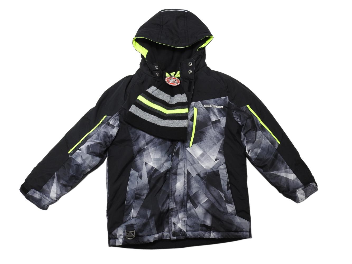e0da7faf4 ZeroXposur Boys Size 7/8 Hooded Full-Zip Extreme Snowboard Jacket /Beanie,  Black