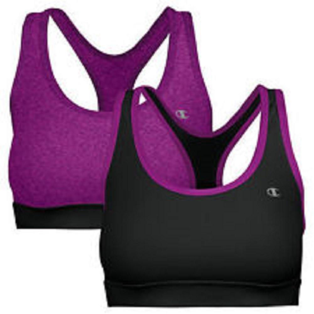 Champion Active Performance Sport Bra Size Small Dark Purple