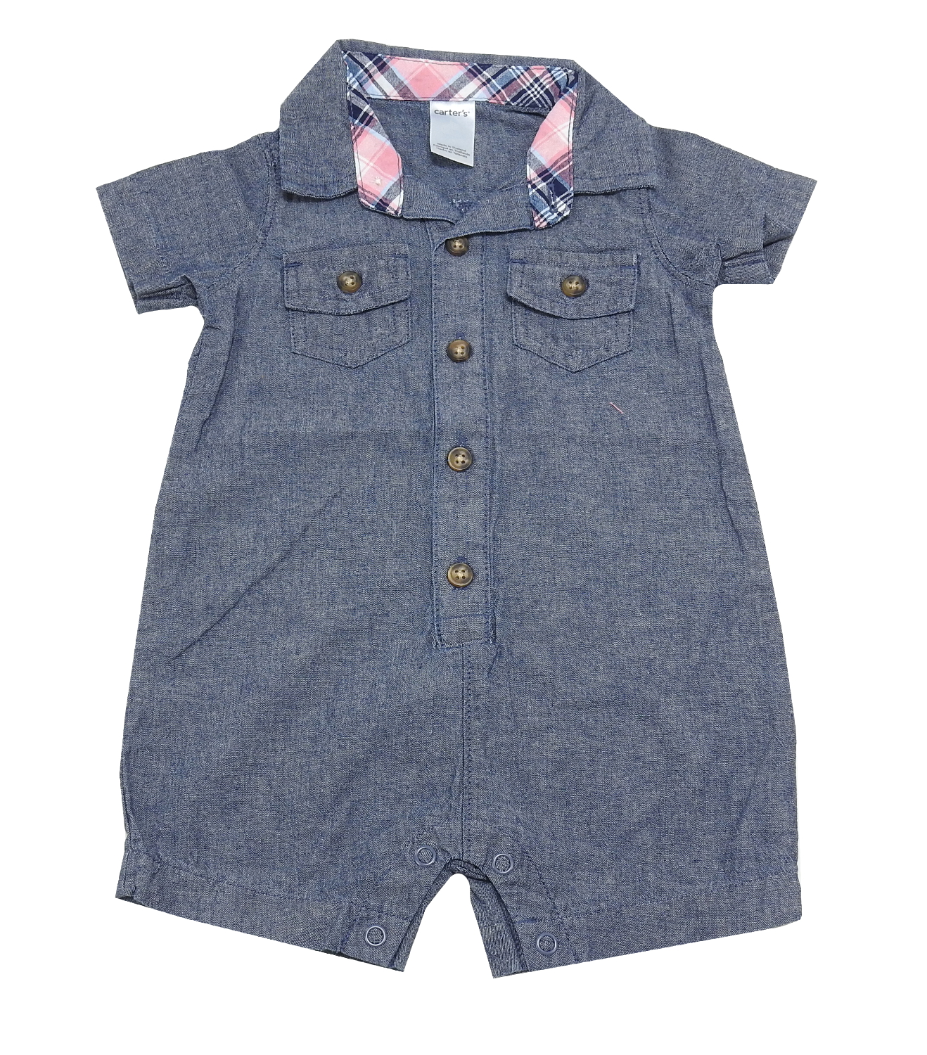 f7f2e0e86c8b Carters Baby Boys Size 6 Months Button Up Short Sleeve Romper