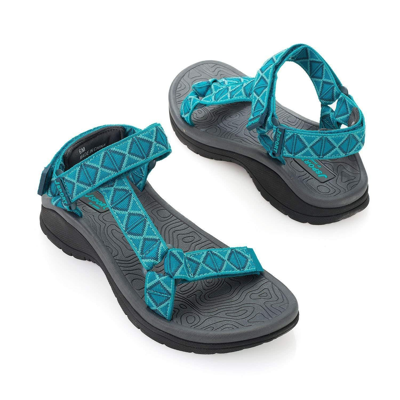 26a1ff3b5504e Details about JSport By Jambu Women's Navajo Water Ready River Sandal,  Turquoise