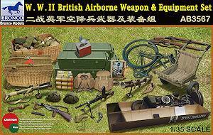BRONCO 1 35 scale WWII British Airborne Weapon & Equipment Set - AB3567