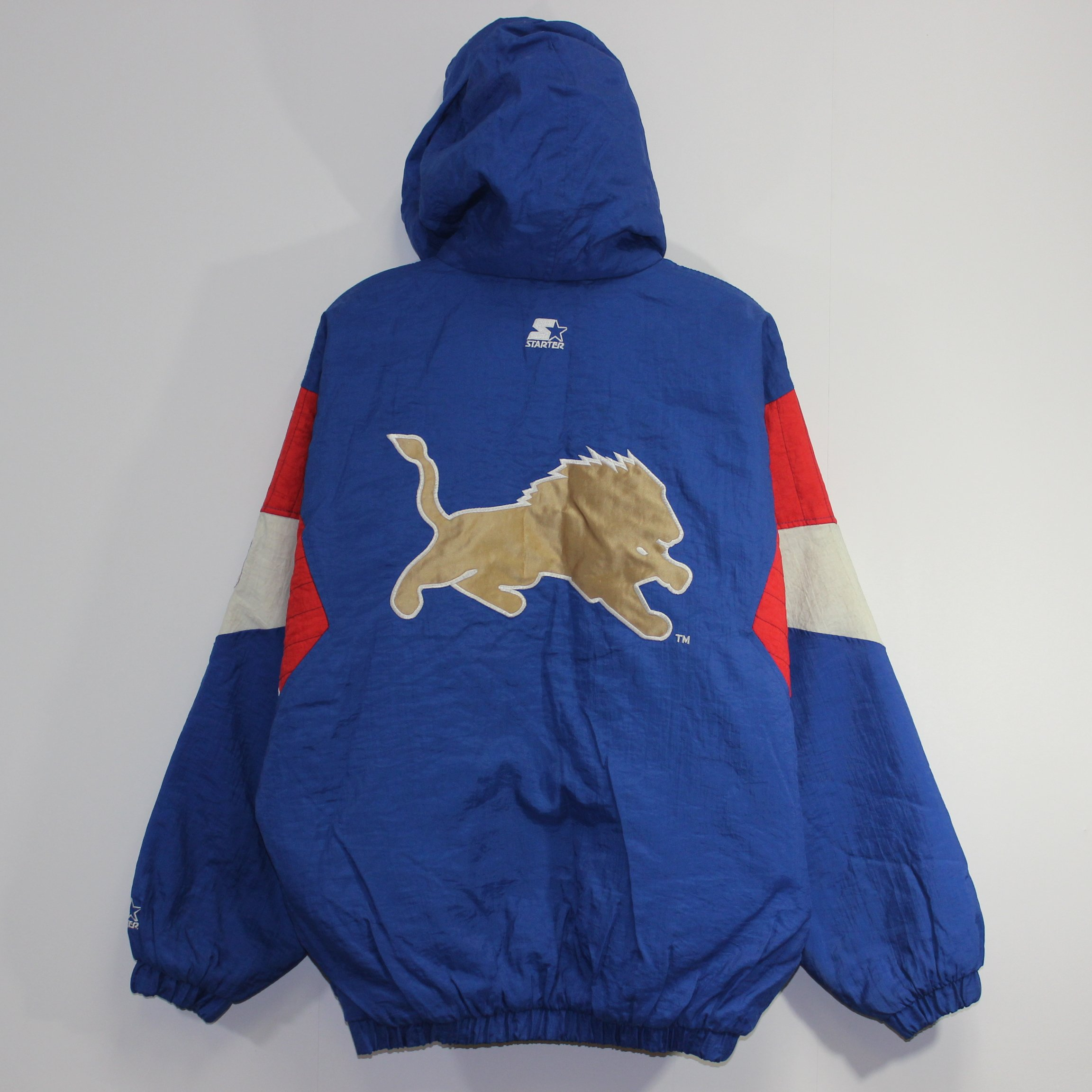 competitive price e2ae2 1ea3f Vintage Detroit Lions Starter Insulated Pullover Jacket ...
