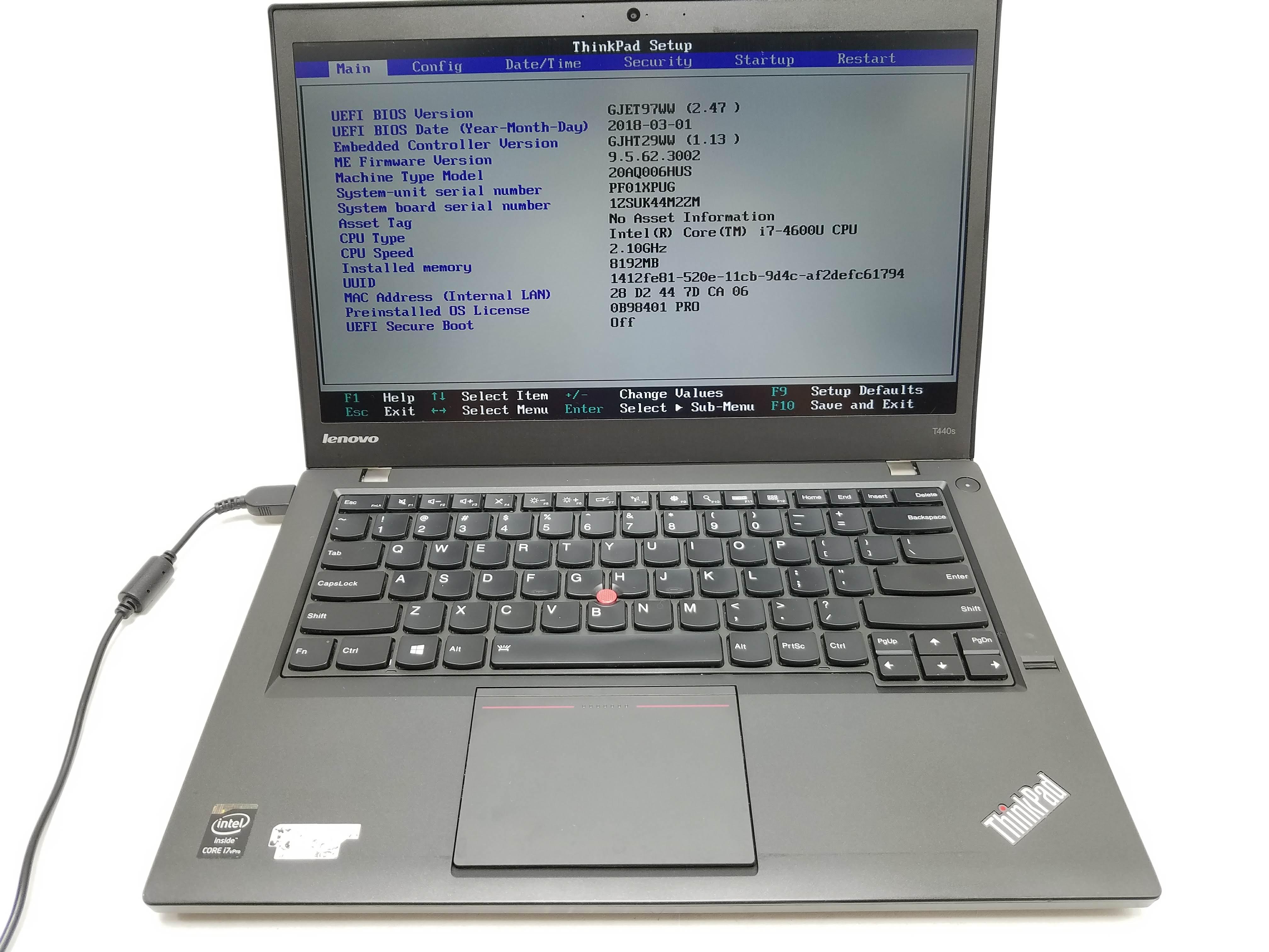 Details about Lenovo ThinkPad T440s i7-4600U 2 1GHz 8GB 256GB SSD 15 6