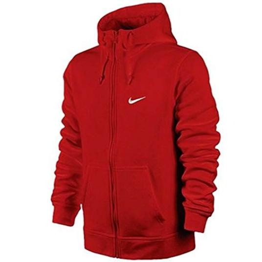 Nike-Men-039-s-Sportswear-Club-Swoosh-Fleece-Full-Zip-Hoodie thumbnail 4