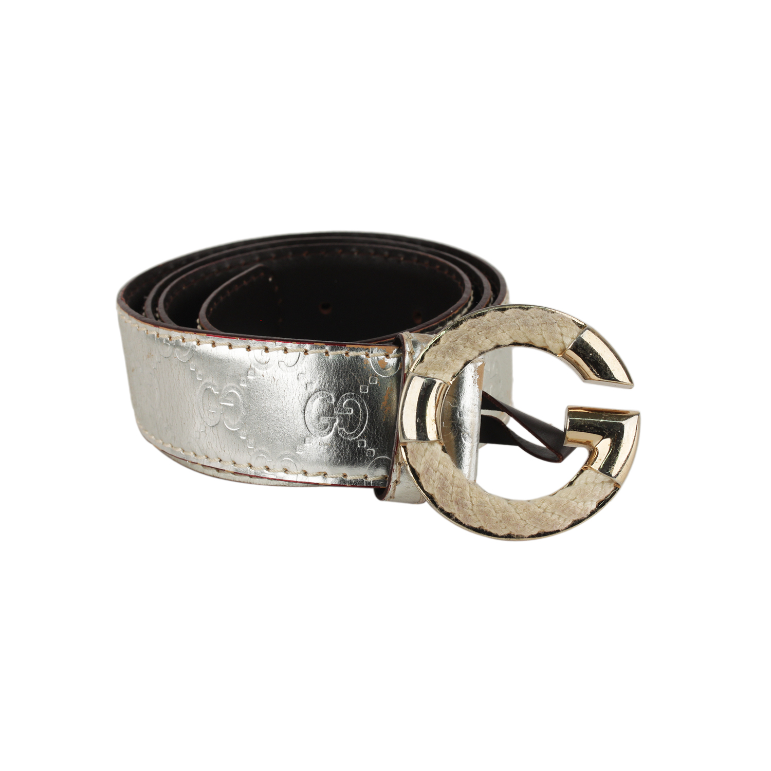 db7051eee Gucci belt in silver-tone Guccissima lleather. G rope logo buckle. 1.5  inches - 3,8cm wide. Size: 85/34. 5 Holes adjustament.
