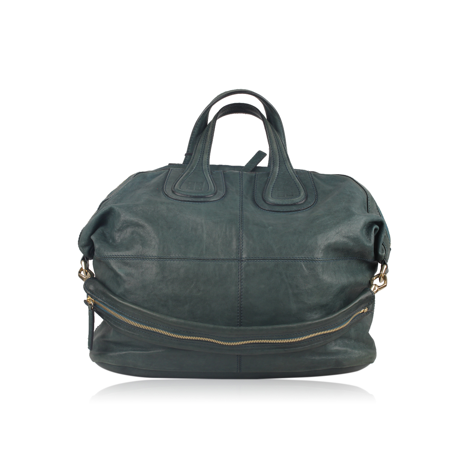 5c7c34f821 Details about Authentic Givenchy Green Leather Nightingale Tote Satchel  Shoulder Bag