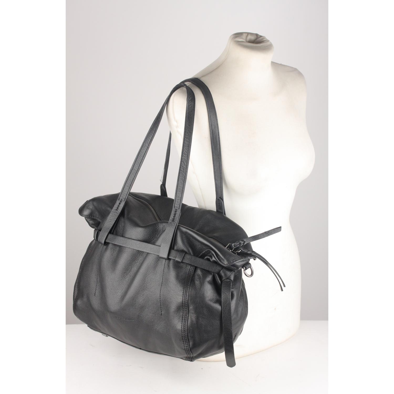 87fcafa15b Details about Authentic Liebeskind Berlin Black Leather Caribou Bag Tote Shoulder  Bag