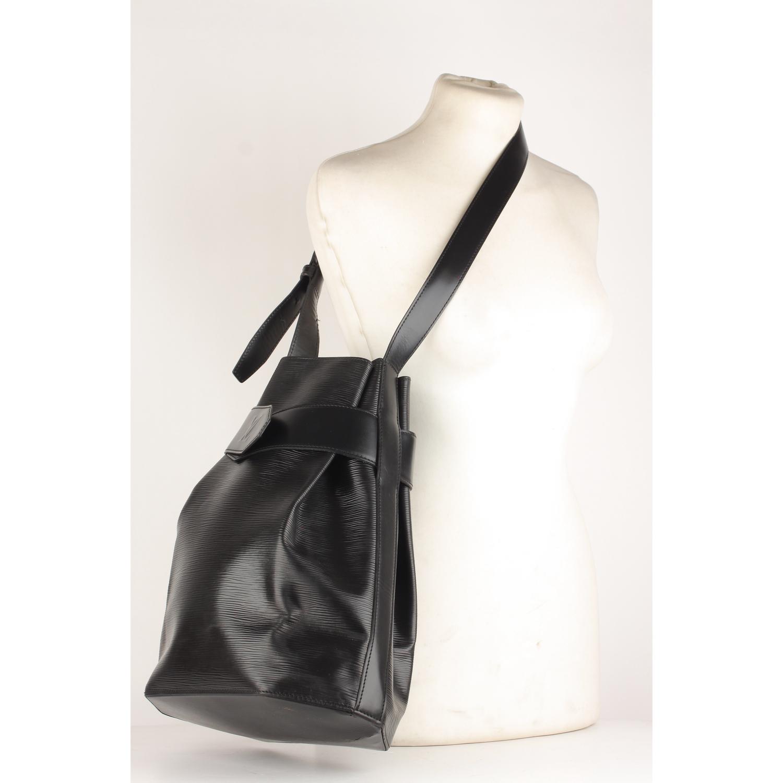 b876e7d24126 Details about Authentic Louis Vuitton Vintage Black Epi Leather Sac  d Epaule Shoulder Bag