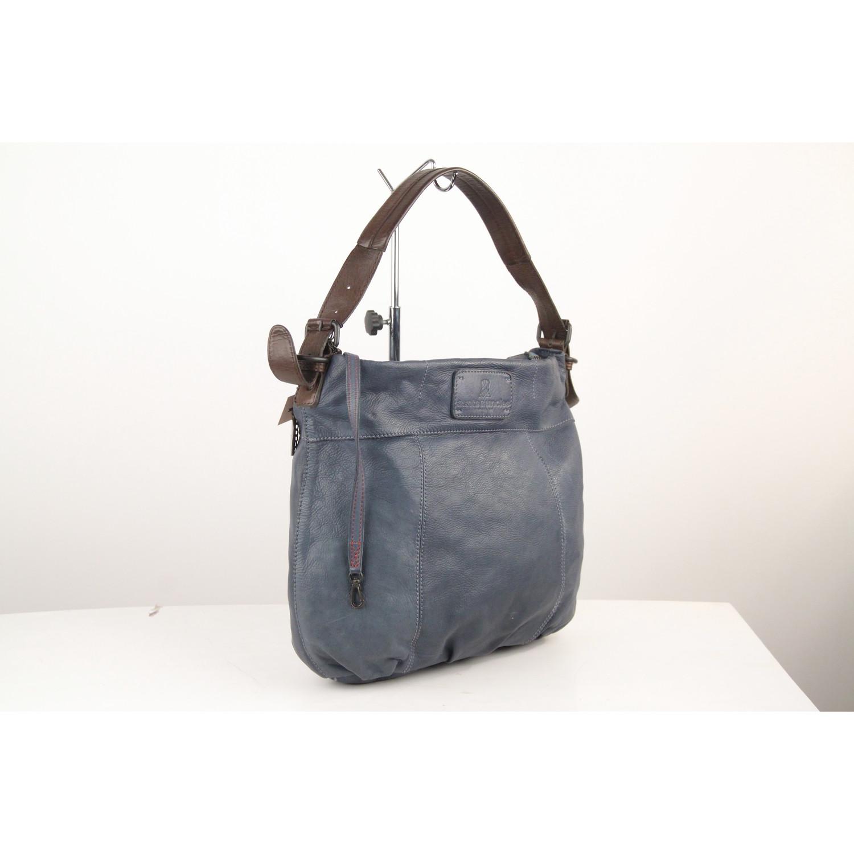 united states reliable quality 100% top quality Details about Authentic AUNTS & UNCLES Blue Leather Primrose Tote Shoulder  Bag