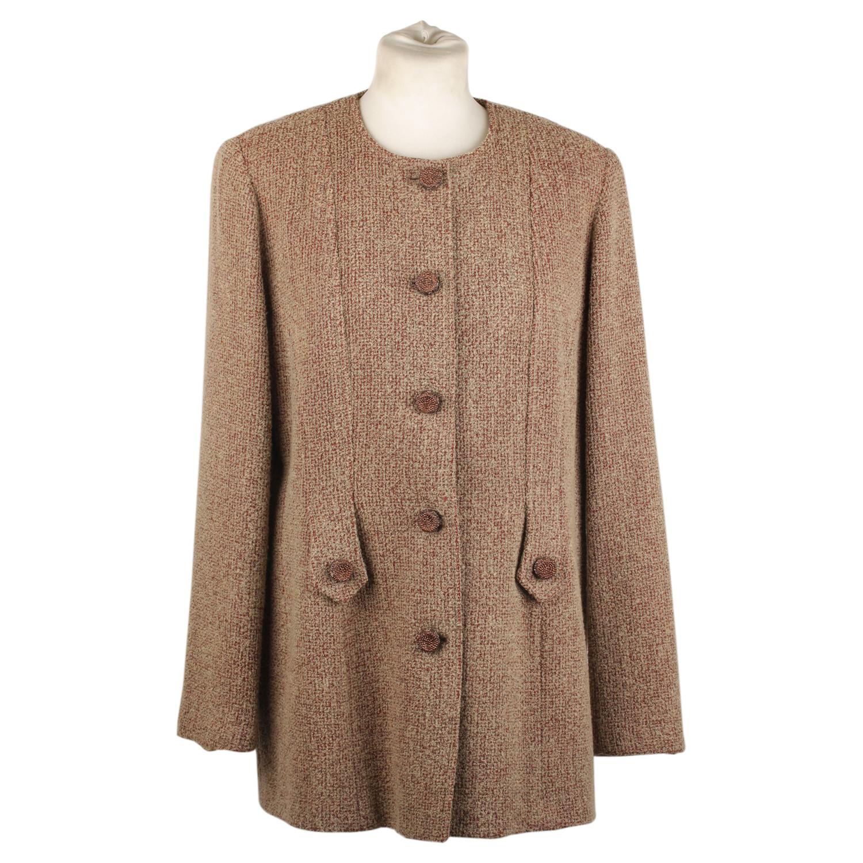 a0783d1976 Details about Authentic Luisa Spagnoli Vintage Bouclé Tan Wool Blend Jacket  Size 48