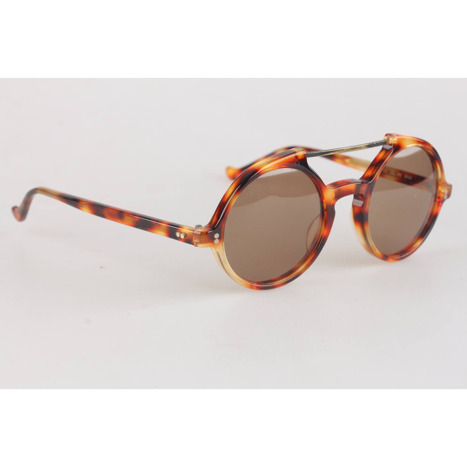 43f81fc27e2 Authentic Gianni Versace Vintage Round Steampunk Sunglasses 45mm New ...