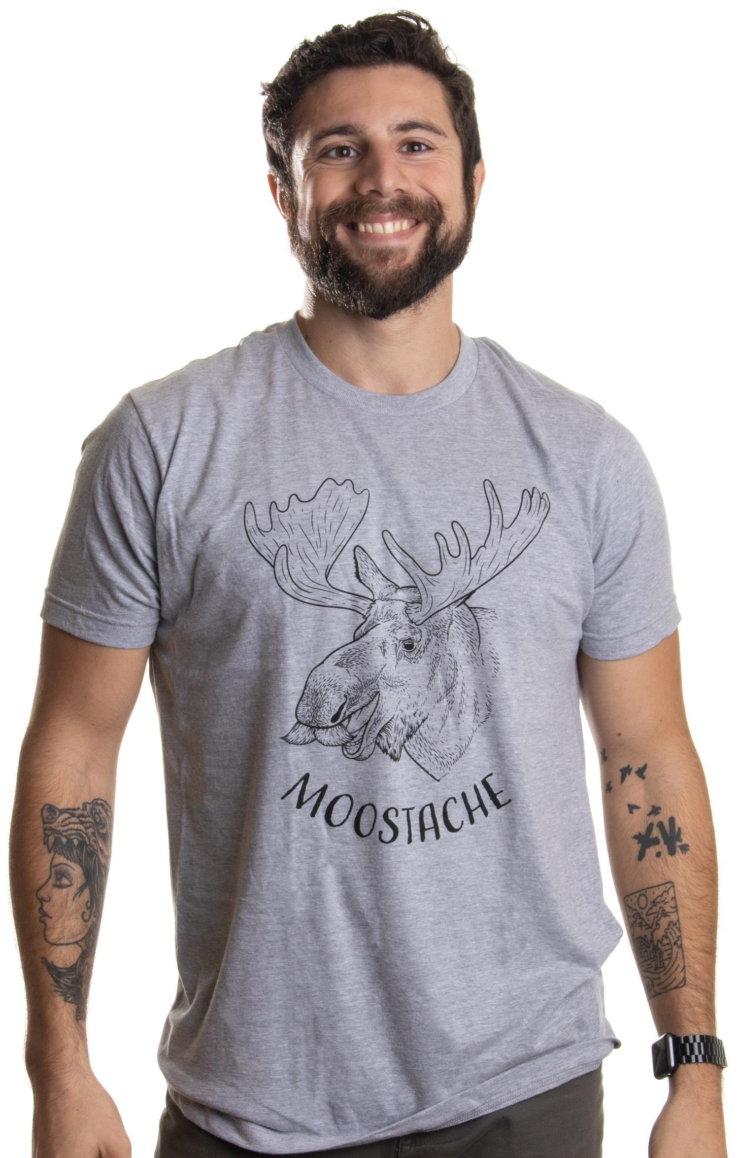 2590a5c3 Moostache | Dad Joke Funny Stupid Animal Moose Humor Pun Mustache ...