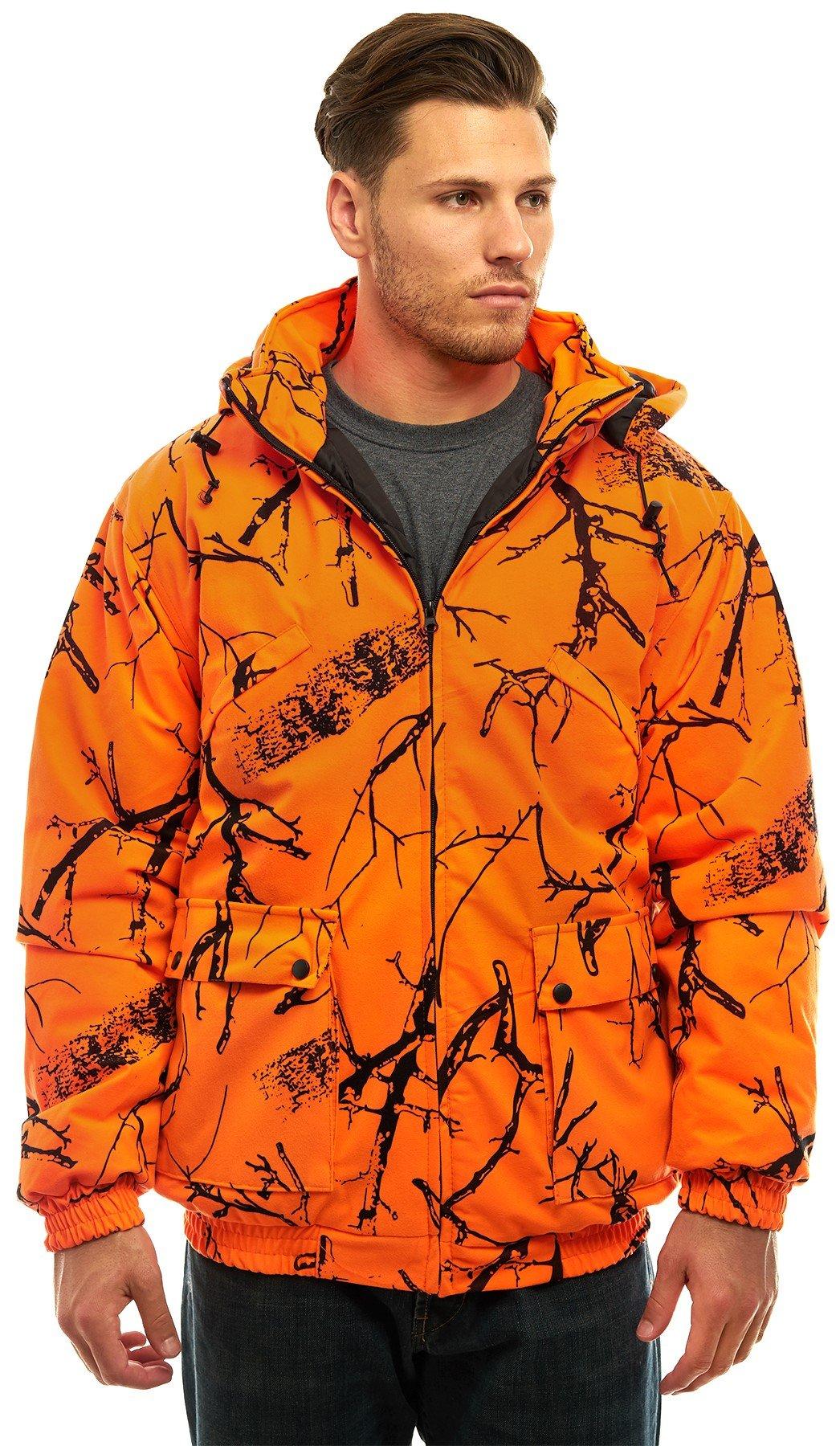 affordable price nice cheap san francisco Trail Crest Men's Safety Blaze Orange/camo Insulated & Waterproof Tanker  Jacket 2xl Orange Camo