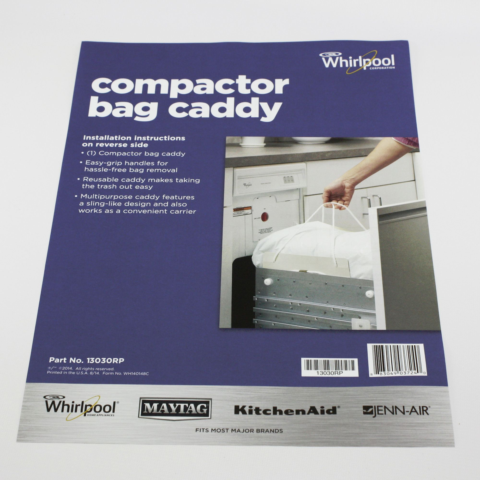 Details About 13030rp For Whirlpool Trash Compactor Bag Caddy With Handles
