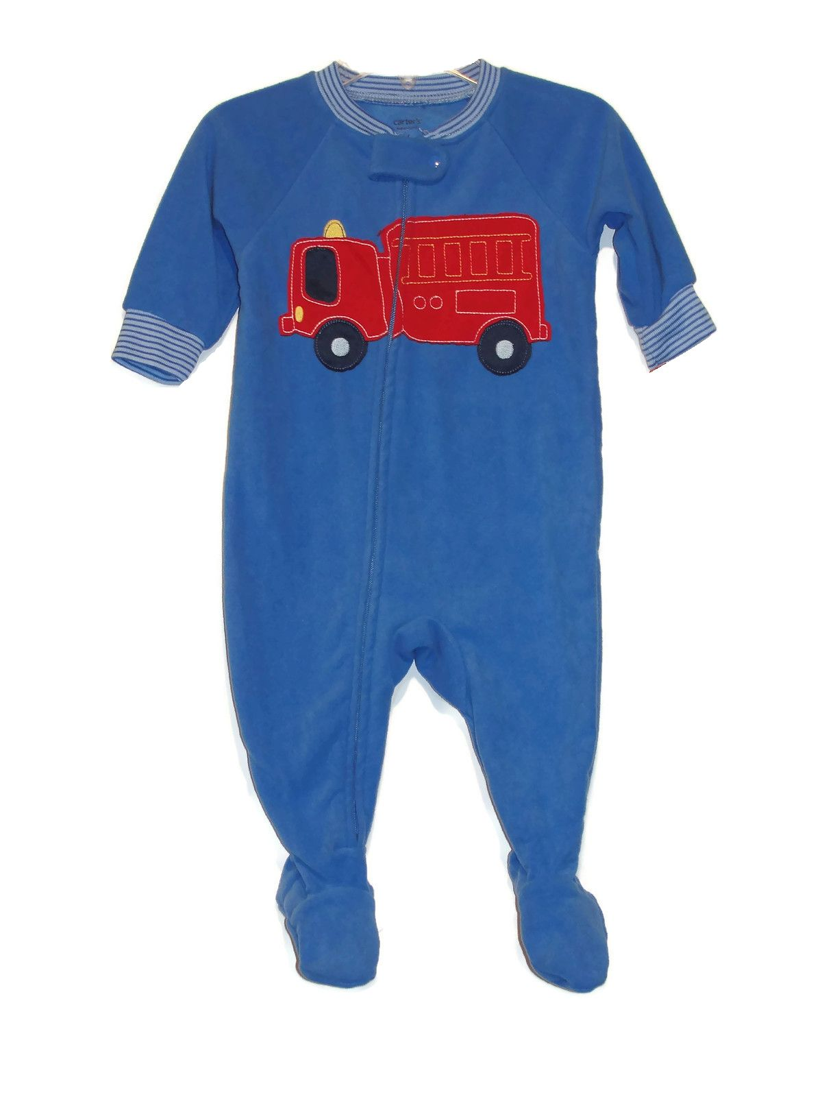 449615a0990a Carter s Baby Boy s 6 Months Blue Firetruck Footed Pajama Sleeper ...