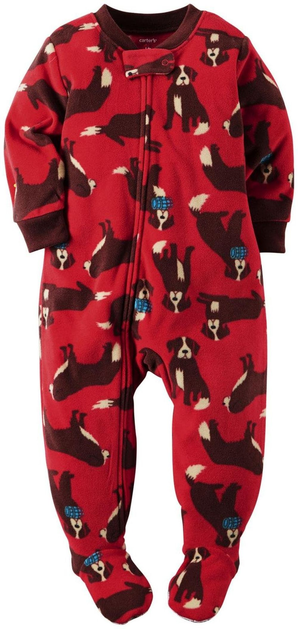 934721baa Carter s Boy s Size 6 ST. Bernard Rescue Dog Fleece Footed Pajama ...