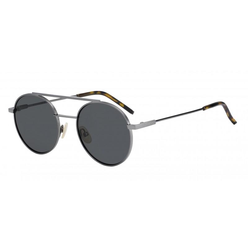 546c963a03 NEW Fendi 0221 S-0KJ1M9 Dark Ruthenium Sunglasses 762753600615