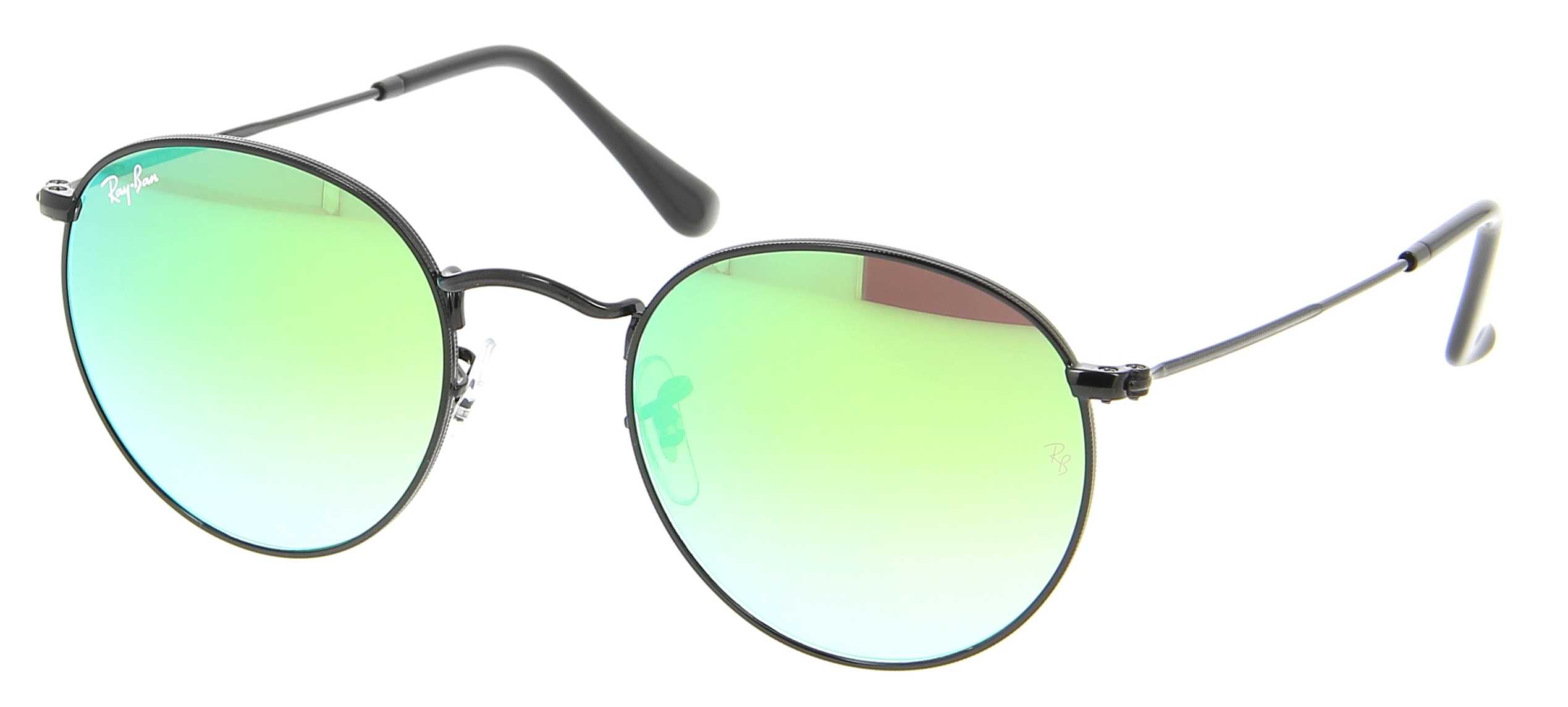 e39484096be7f Details about New Ray Ban 3447-002 4J-50 Black   Green Gradient Flash 50mm  Sunglasses