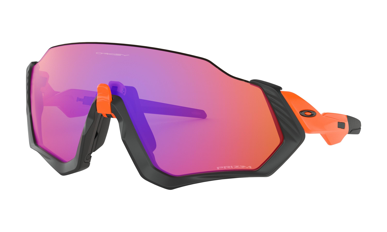 8b86c22077 Details about NEW Oakley 9401 04 Flight Jacket Matte Black   Orange Purple  Sunglasses