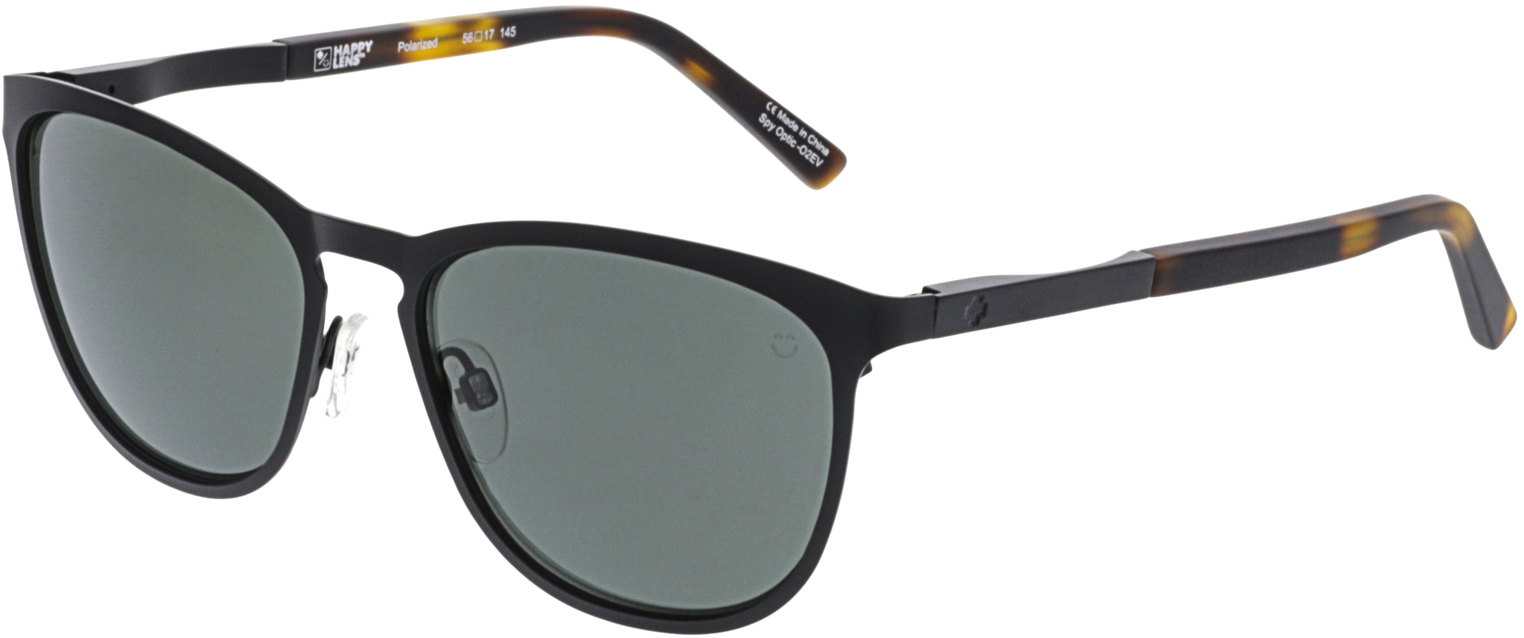 4b96afbc62d3e Details about NEW Spy Optics Cliffside Matte Black   Happy Gray Green  873500764864 Sunglasses