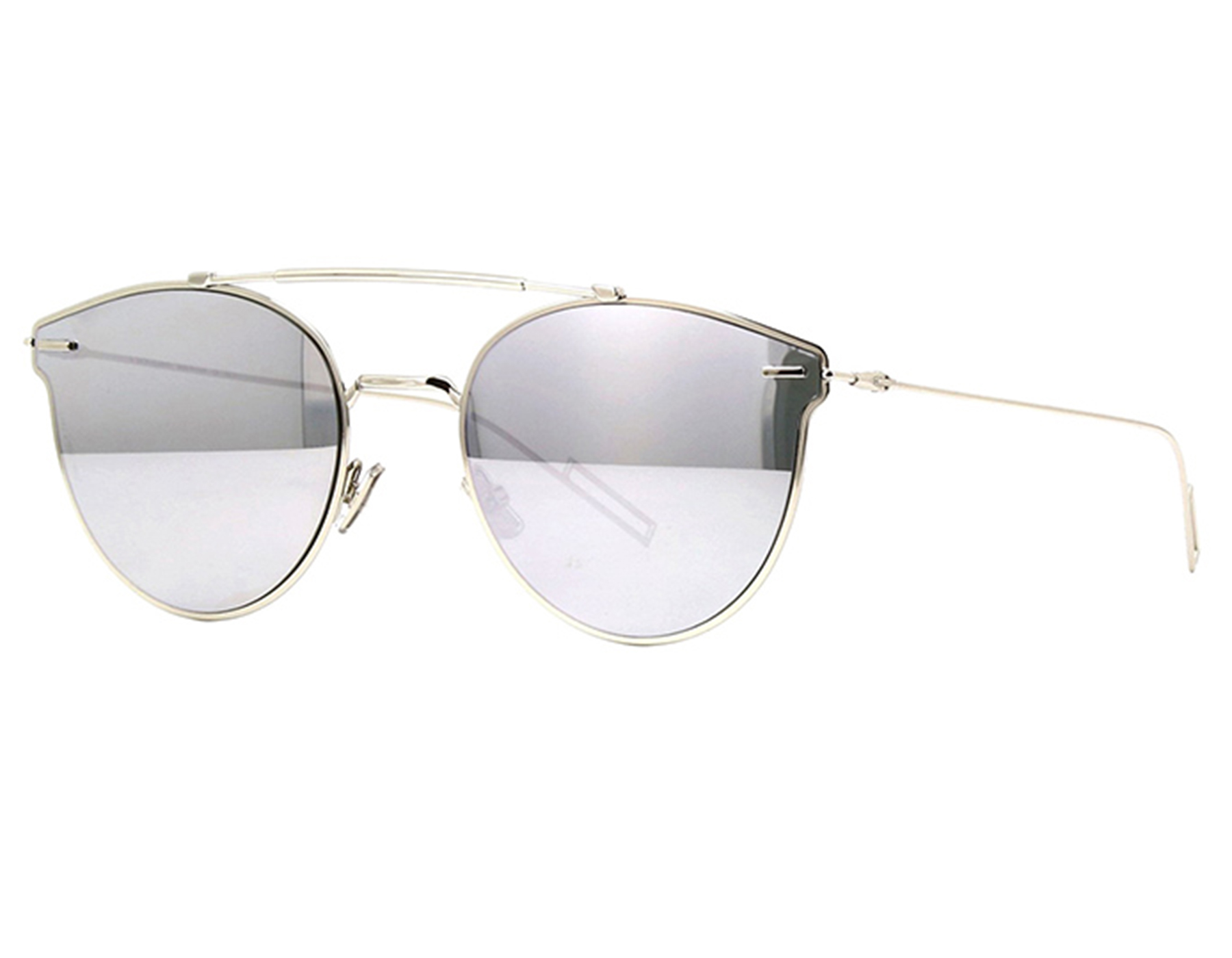 68b30a5c119 Details about NEW Christian Dior PRESSURE-0100T Grey Silver Mirror  Sunglasses