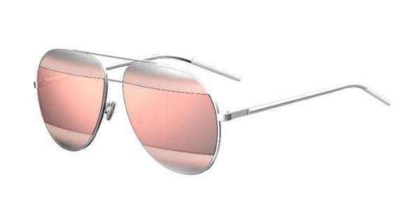 6316a909134f Details about NEW Christian Dior SPLIT1 2K40J Silver Grey   Silver Pink  Gold Sunglasses