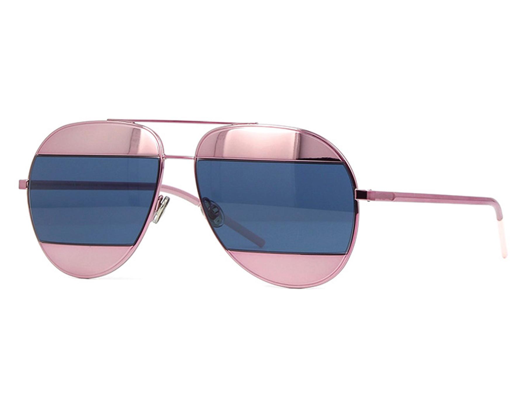 132b36bb707 Details about NEW Christian Dior SPLIT 1 02T8F Pink Mirror Blue Sunglasses