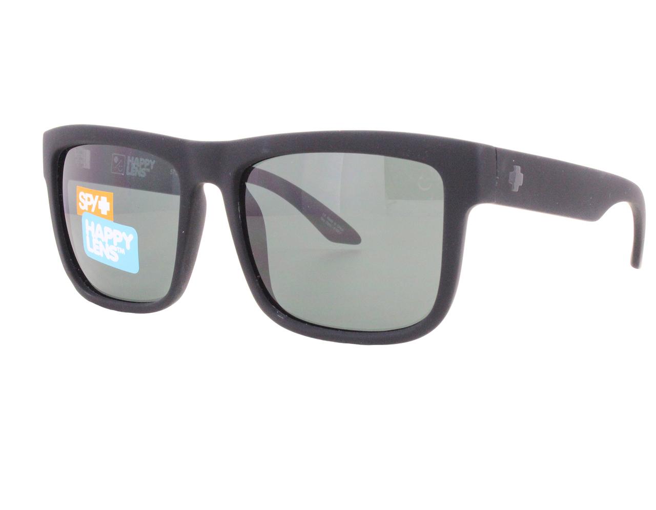 2dce110d5714d Details about New Spy DISCORD-673119973863 Soft Matte Black   Happy Gray  Green Sunglasses
