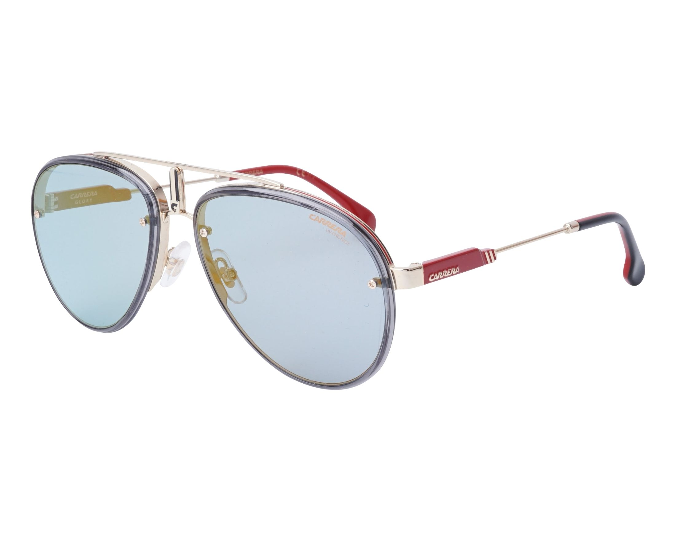 Details about NEW Carrera GLORY LKS2Y Gold Blue Sunglasses 06a438af24