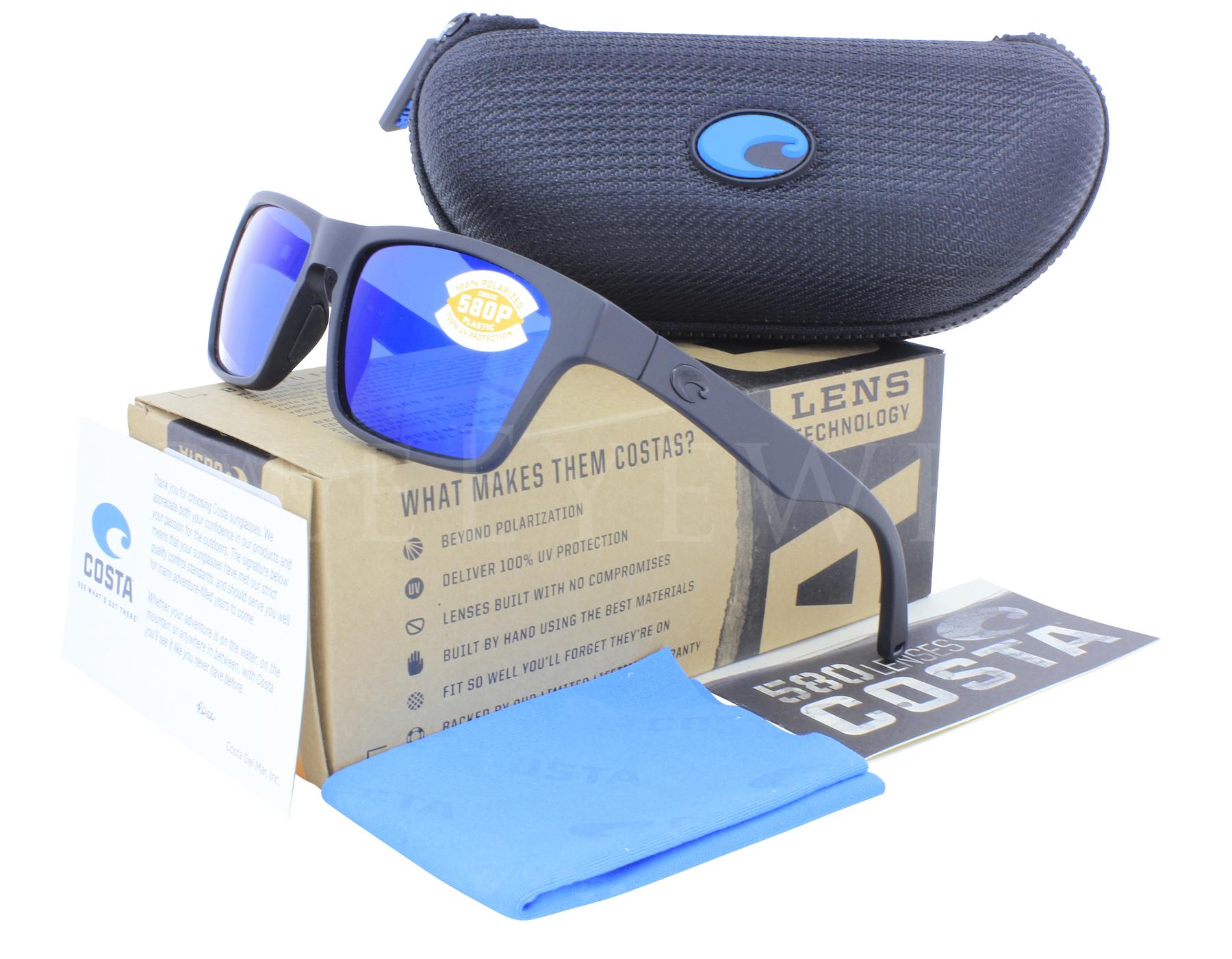 fcfde5489de8 Details about New Costa del Mar Hinano 580P Blue Mirror Polarized Sunglasses