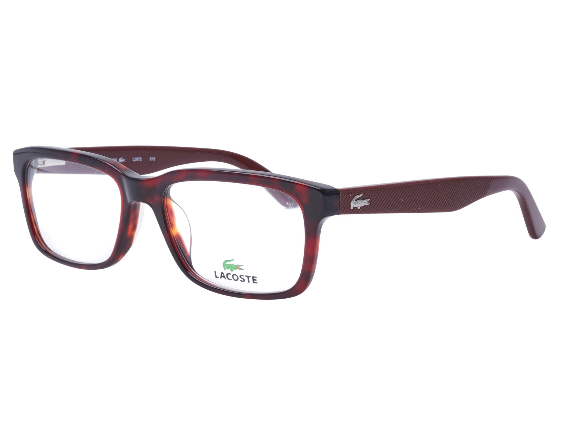 c451b53fed2 NEW Lacoste L2672 615 54mm Red Havana Optical Eyeglasses Frames ...