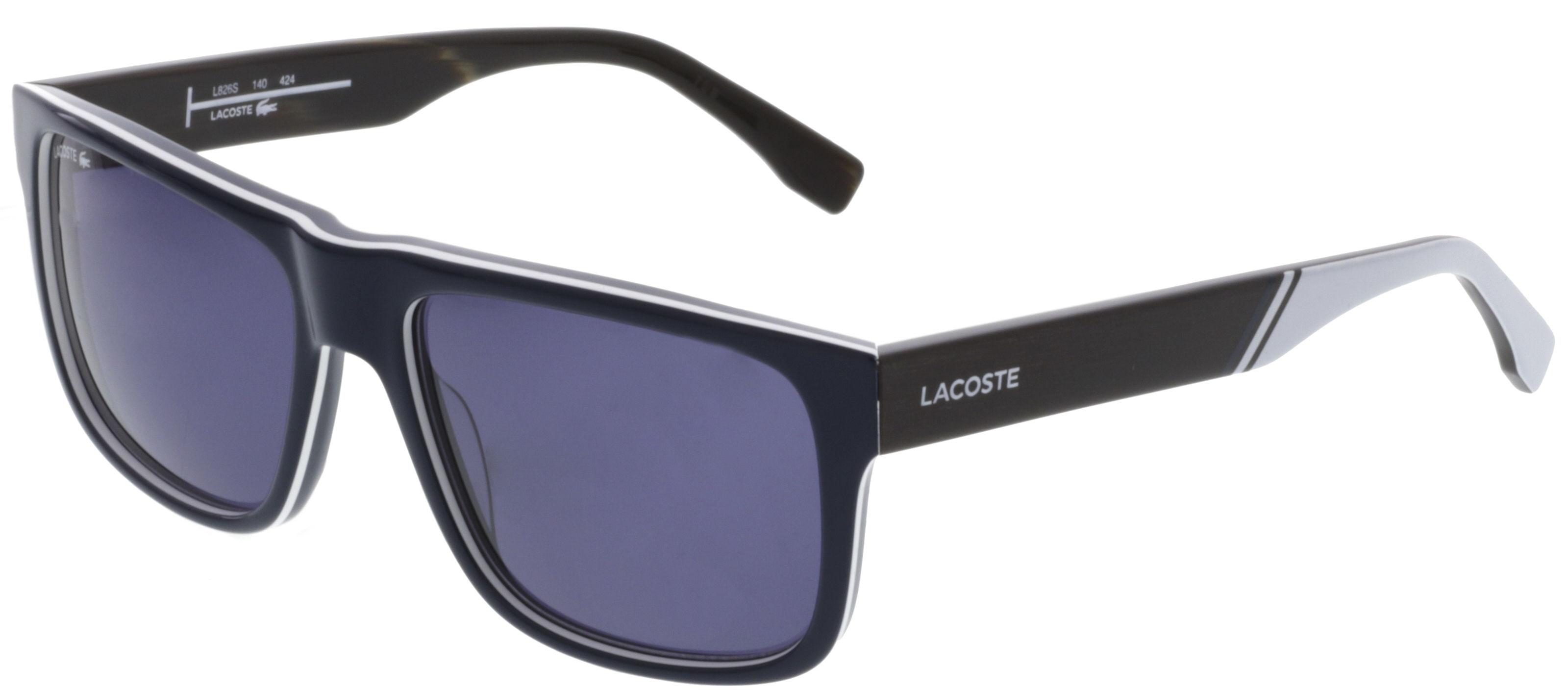 7e3e0ca31f5c New Lacoste L826S-424-5717 Blue 57mm Sunglasses 886895284530