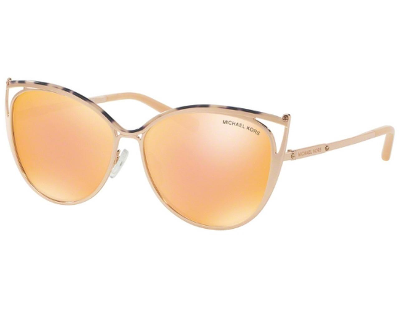 ab7fa9086c37 Details about NEW Michael Kors MK1020-11657J Pink / Gold 56mm Sunglasses