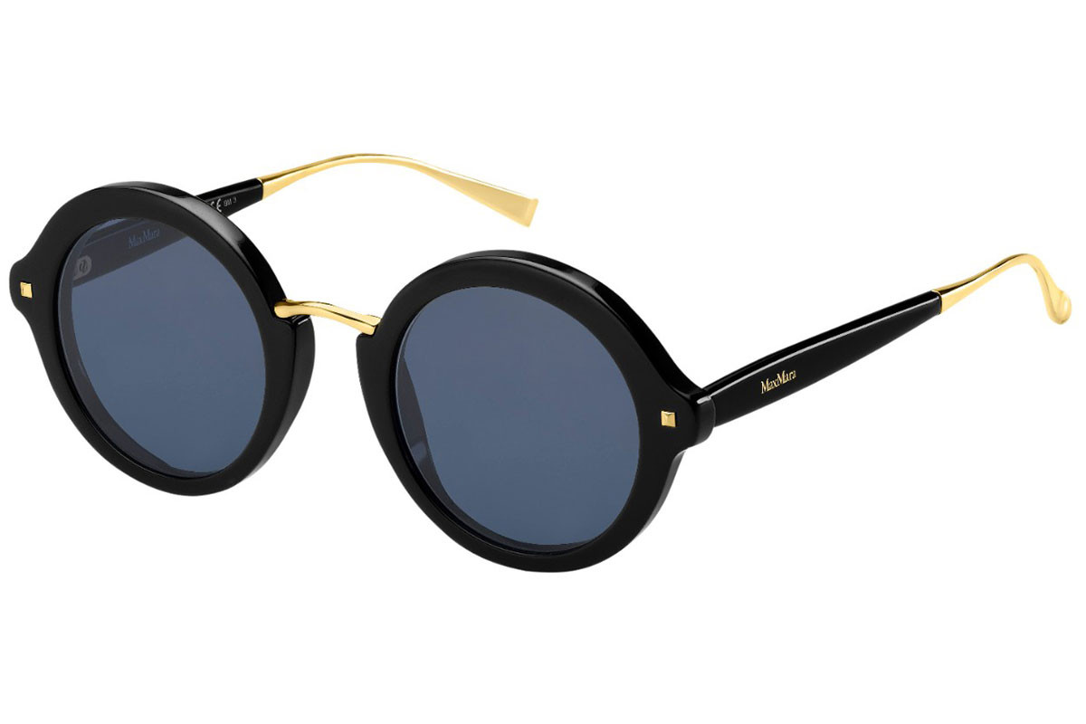 3528653bcb2 Details about NEW Max Mara MM-NEEDLE-VIII-0807KU Black MaxMara Sunglasses