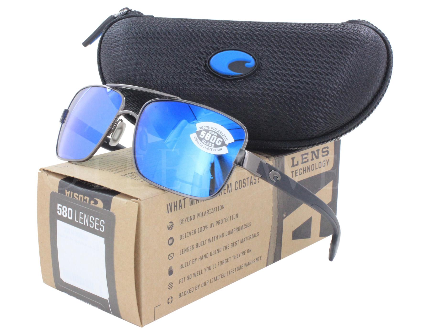 05322ff6577ae Details about New Costa del Mar North Turn Blue Mirror NTN22-OBMGLP580G  Sunglasses