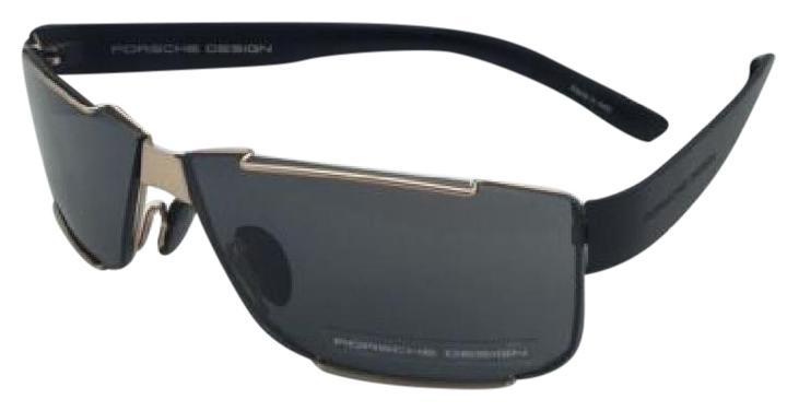 205782e4a775 NEW Porsche P8509 B Black 64mm Sunglasses 4046901618216