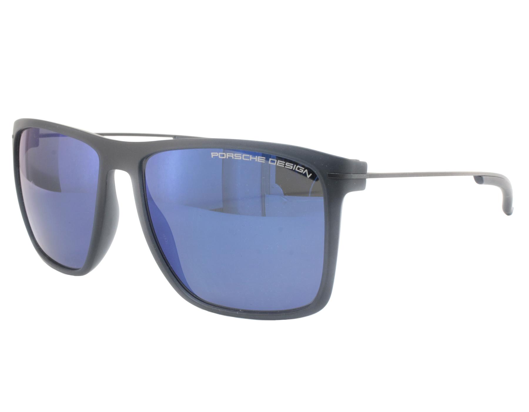 7ad9df2f592c NEW Porsche Design P8636 B 58mm Blue Transparent   Blue Sunglasses ...