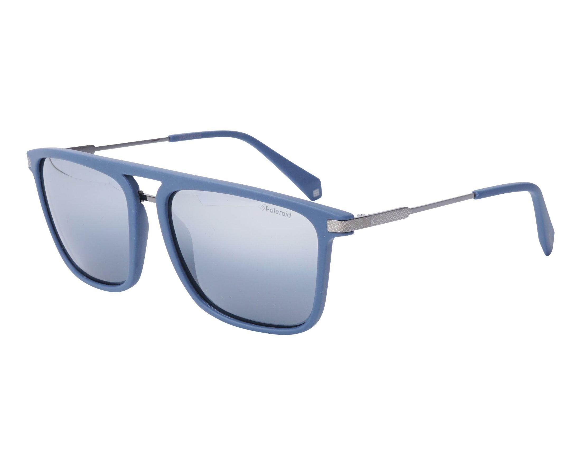 d858d06dc24 Details about NEW Polaroid PLD2060 FLL 1A Matte Blue   Silver Gradient  Sunglasses